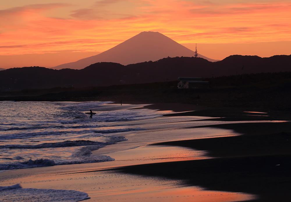 平塚砂丘の夕映え
